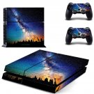Burning planet skin decal for PS4 PlayStation 4 console and 2 controllers