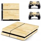 Colorul wooden board skin decal for PS4 PlayStation 4 console and 2 controllers