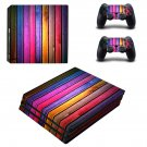 Colorful wooden board skin decal for console and controllers