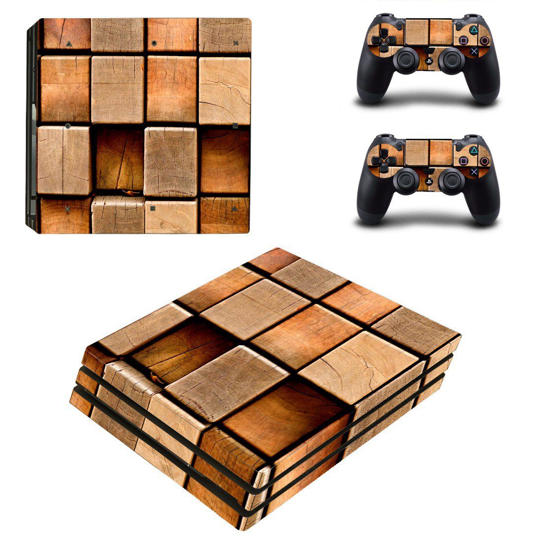 Square block skin decal for console and controllers