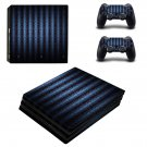 Blue vintage skin decal for console and controllers