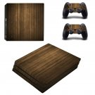 Wooden board skin decal for console and controllers