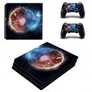 Burning planet skin decal for console and controllers