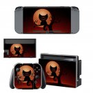 Black cat and moon decal for Nintendo switch console sticker skin