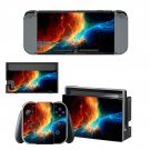 Fire sky decal for Nintendo switch console sticker skin