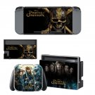Pirtates of the caribean decal for Nintendo switch console sticker skin