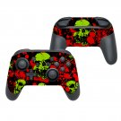 Painted yellow skull decal for Nintendo switch controller pro sticker skin
