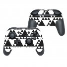 White traingle decal for Nintendo switch controller pro sticker skin