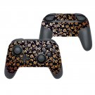 Floral print decal for Nintendo switch controller pro sticker skin