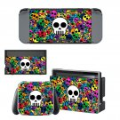 Cartoon skull Nintendo switch console sticker skin
