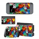 Animated cartoon  wall Nintendo switch console sticker skin