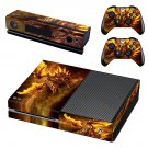 Golden dragon skin decal for Xbox one console and controllers