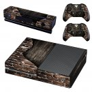 Rusted and Broken Brick wall skin decal for Xbox one console and controllers