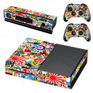 Sticker bomb skin decal for Xbox one console and controllers