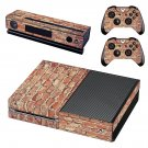 Rusted  Brick wall skin decal for Xbox one console and controllers