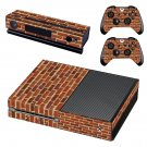 Brick wall skin decal for Xbox one console and controllers