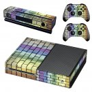 Colored brick wall skin decal for Xbox one console and controllers