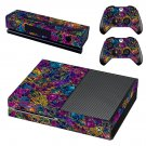 Colourful retro robots skin decal for Xbox one console and controllers