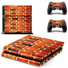 Brick wall  skin decal for PS4 PlayStation 4 console and 2 controllers