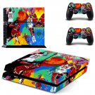 Michael jordan leroy neiman skin decal for PS4 PlayStation 4 console and 2 controllers