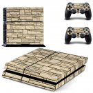 Stone Wall  skin decal for PS4 PlayStation 4 console and 2 controllers