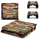 Multicolour stone wall  skin decal for PS4 PlayStation 4 console and 2 controllers