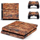 Rusted  brick wall skin decal for PS4 PlayStation 4 console and 2 controllers