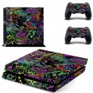 Trippy space skin decal for PS4 PlayStation 4 console and 2 controllers