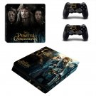 Pirates of the Caribbean ps4 slim skin decal for console and controllers