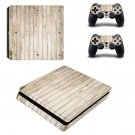 Wooden board ps4 slim skin decal for console and controllers