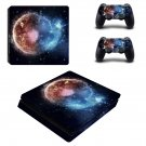 Burning Planet ps4 slim skin decal for console and controllers