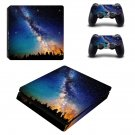 Open sky with tree view ps4 slim skin decal for console and controllers