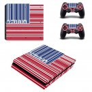 Parallel America ps4 slim skin decal for console and controllers