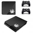 White Weed  ps4 slim skin decal for console and controllers