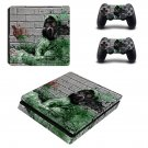 Pollution masked ps4 slim skin decal for console and controllers