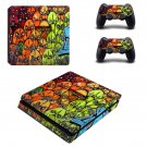 Wall Graffiti ps4 slim skin decal for console and controllers