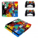 Michael jordan leroy neiman ps4 slim skin decal for console and controllers
