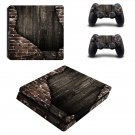 Rusted wall ps4 slim skin decal for console and controllers