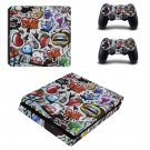 Graffiti ps4 slim skin decal for console and controllers