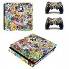 Jdm stickers ps4 slim skin decal for console and controllers