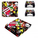 Eat sleep jdm domo ps4 slim skin decal for console and controllers