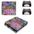 Street art ps4 slim skin decal for console and controllers