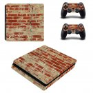 Rusted and Broken Brick wall ps4 slim skin decal for console and controllers
