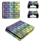 Colourful brick wall print ps4 slim skin decal for console and controllers