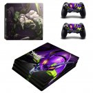 Evangelion ps4 pro skin decal for console and controllers