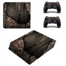 Rusted wall ps4 pro skin decal for console and controllers