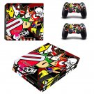 Eat sleep jdm domo ps4 pro skin decal for console and controllers