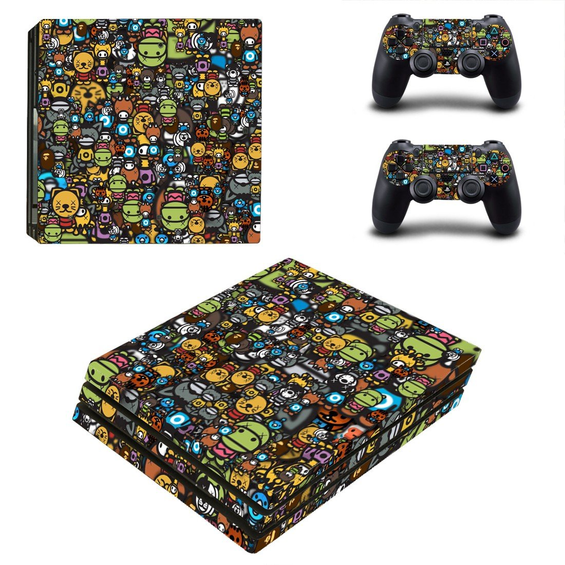 Emoji stikers ps4 pro skin decal for console and controllers