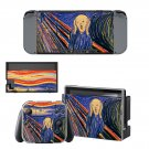 The Scream Nintendo switch console sticker skin