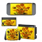 Flower paintaing Nintendo switch console sticker skin